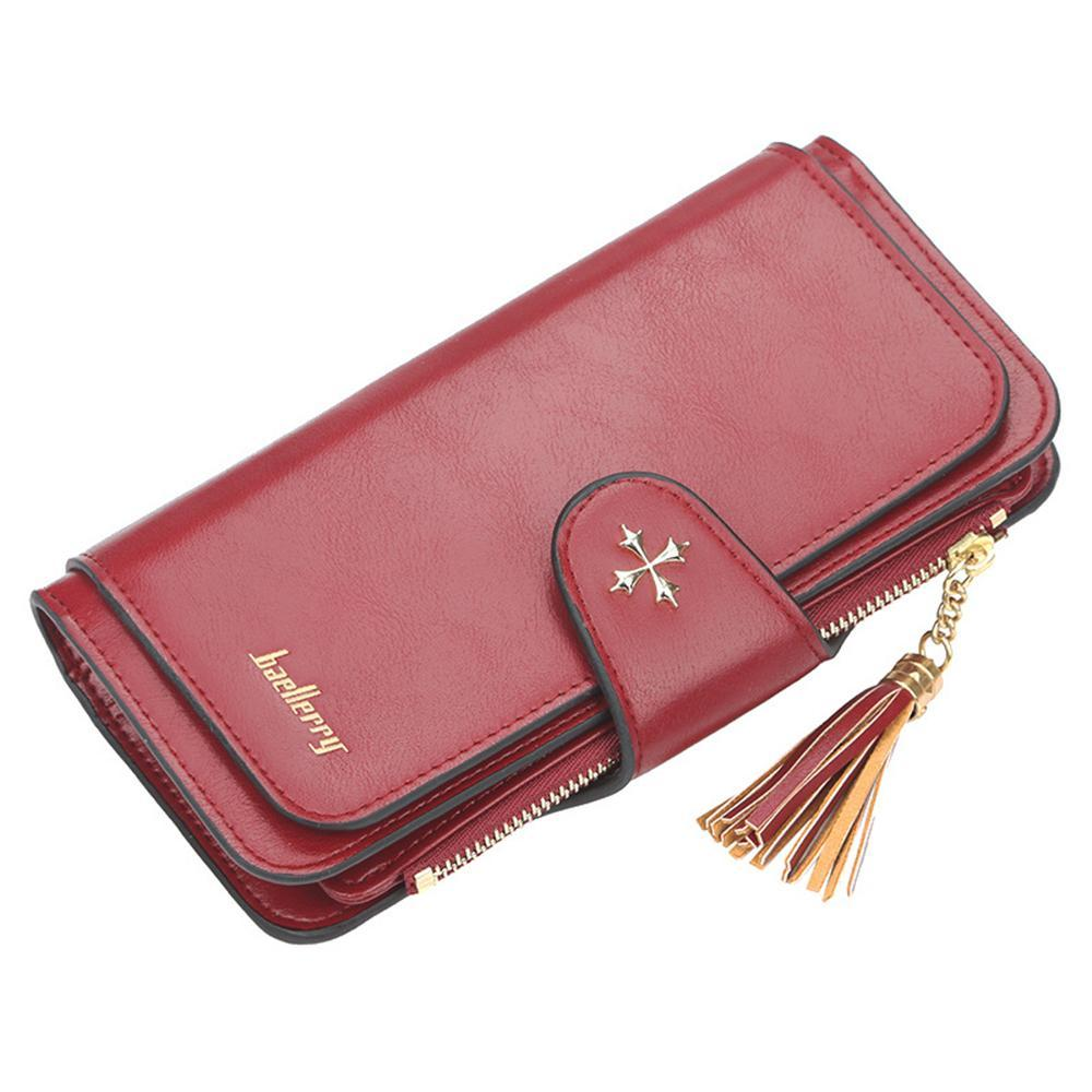 Baellerry ladies buckle wallet long multi-color card phone bag clutch bag wallet