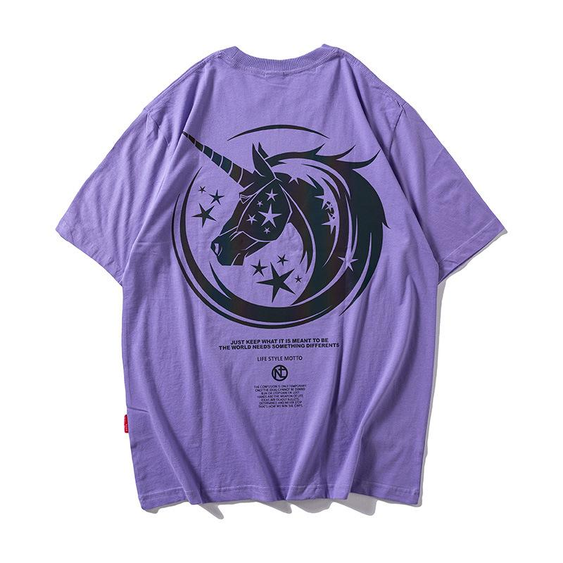 【50% discount for a limited time】Licorne®Reflective unicorn T-shirt