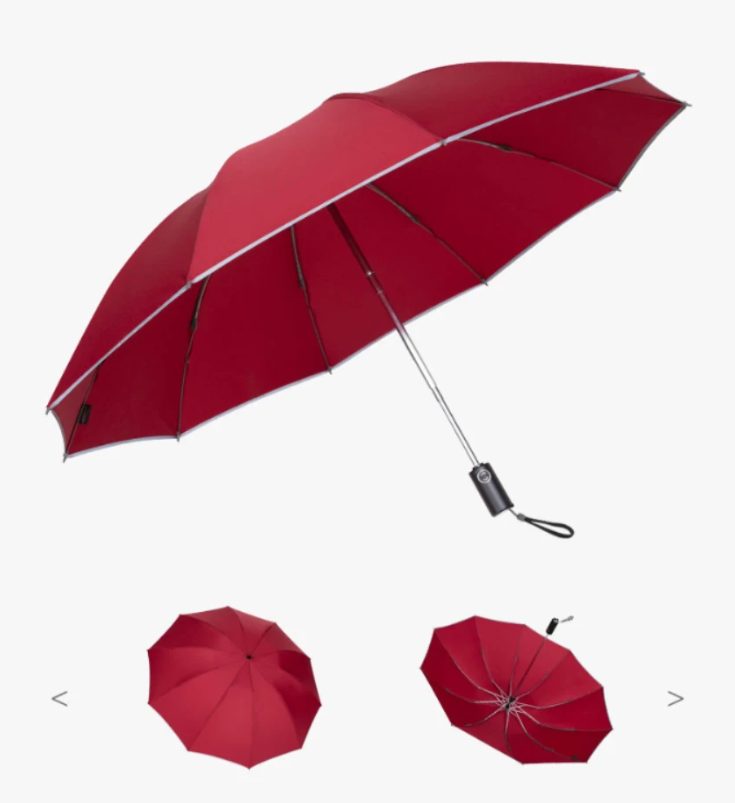 LED Inverted Umbrella with Reflective Stripe【BUY 2 FREE SHIPPING】