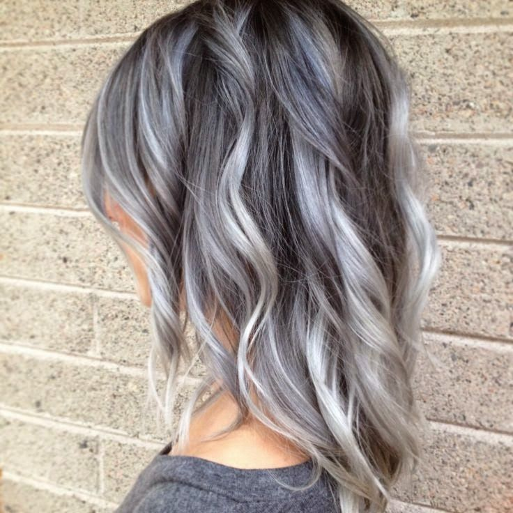 Gray Hair Wigs For African American Women Charcoal Gray Hair Color Good Synthetic Wigs Little Mermaid Wig Grey Hair With Blue Highlights Jojo Wig