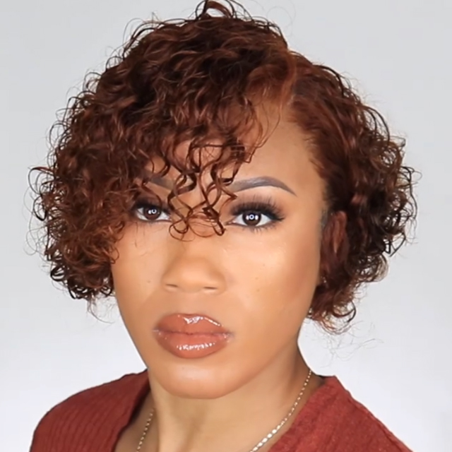 (Delivery within 5 days)Clear Inventory Sale Curly 360 Lace Frontal Wig 100 % Human Hair