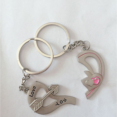 Keychain Heart Ring Jewelry Silver For Daily