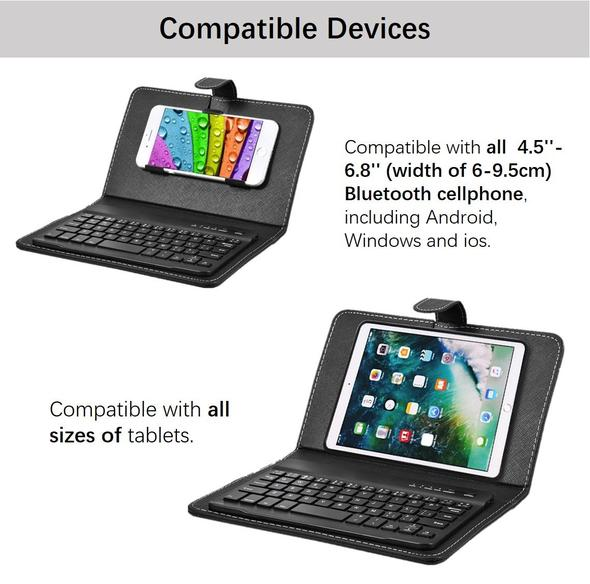 🔥Wireless Bluetooth Keyboard With Protective Cover