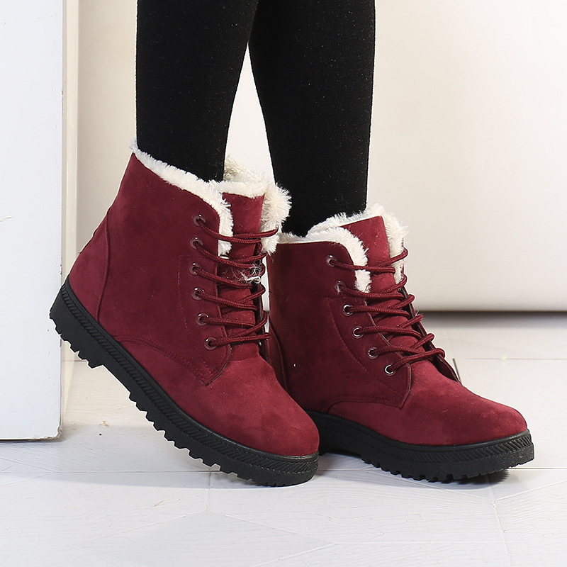 2020 Lace-up  waterproof and warm boots