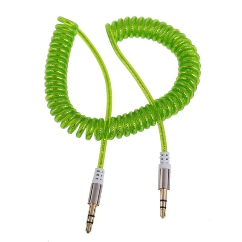 Flexible 3.5mm Car Jack M to M Extend Stereo Audio AUX Cable Cord Colors