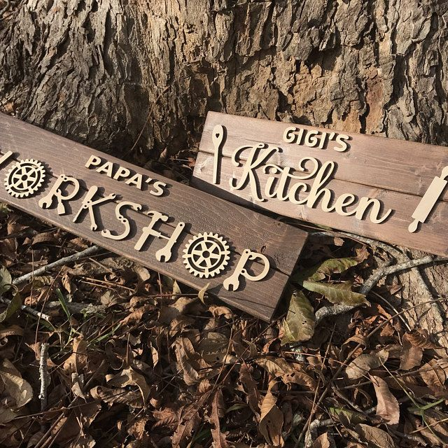 【FATHER'S DAY SALES-50%OFF】WOOD WORKSHOP SIGN - HUSBAND DAD GRANDFATHER BIRTHDAY GIFT