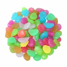 SKRTEN 100PCS Glow in the Dark Luminous Pebbles Stones Fish Tank Aquarium Party Event