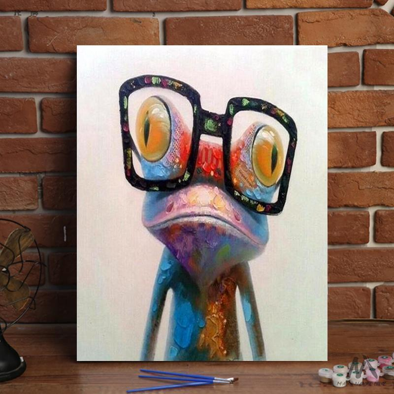 DIY Painting By Numbers - Frog (16