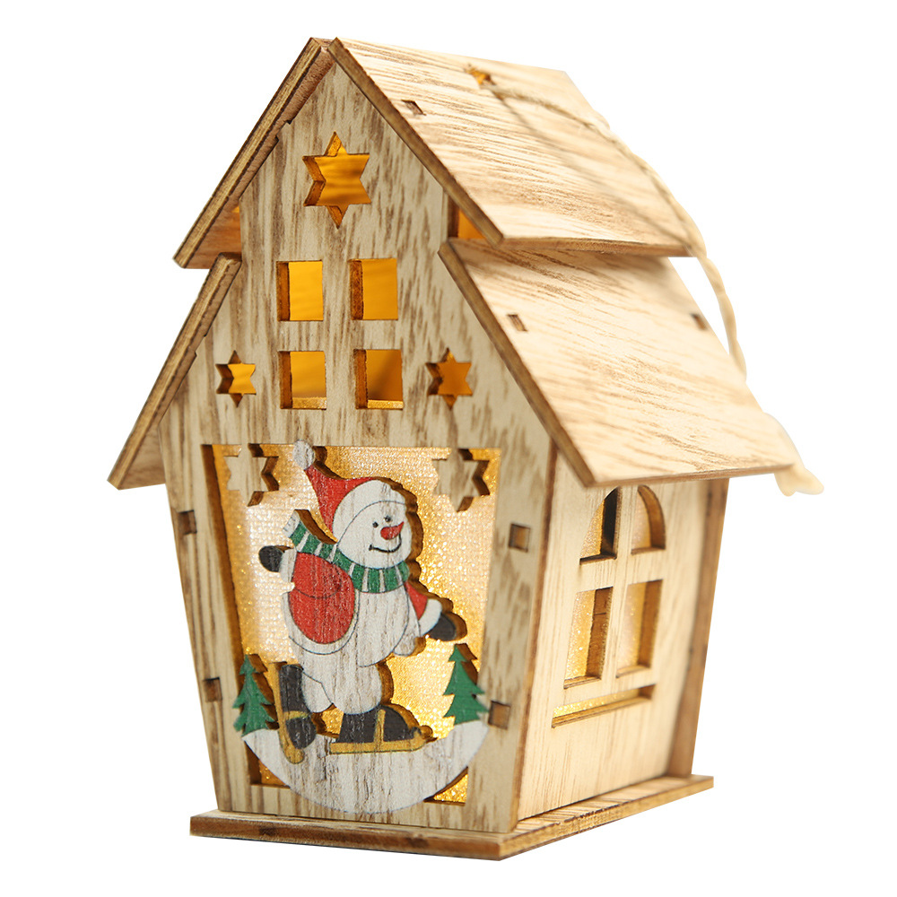Christmas Tree Hanging Pendent Wooden House