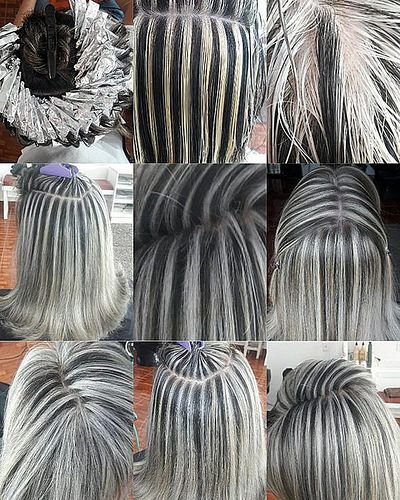 Gray Hair Wigs For African American Women Highlights To Cover Grey Granny Grey Hair Color Light Purple Grey Hair Katie Holmes Gray Hair Bachelorette Party Wigs