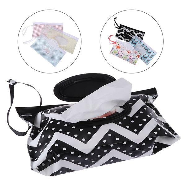 Clutch and Clean Wipes Carrying Case Eco-friendly Wet Wipes Bag Cosmetic Pouch