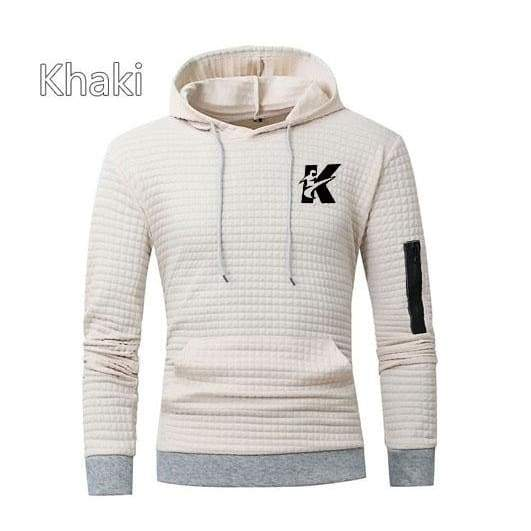 [Hongliang]Spring and Autumn New Fashion Long-sleeved Hooded Sweater Coat Sports Casual Tide Brand Sweater Men's Sweat Suit