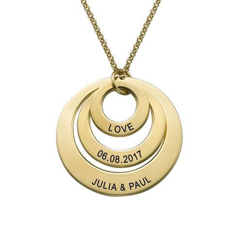 Jewelry for Moms - Three Disc Necklace with 18K Gold Plating