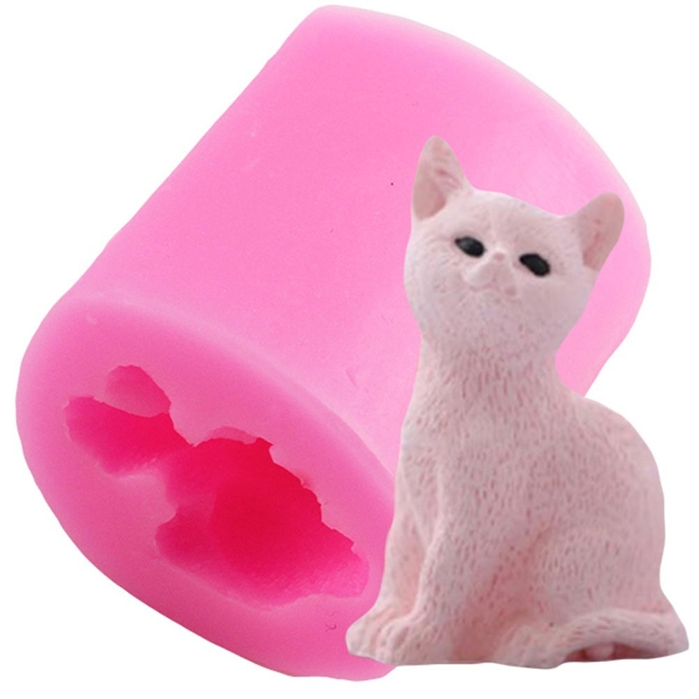 Cute Resin Candy DIY Soap Clay Lovely Pet Chocolate Home Decorating Fondant Candle Mould Baking Tool Silicone Molds 3D Cat