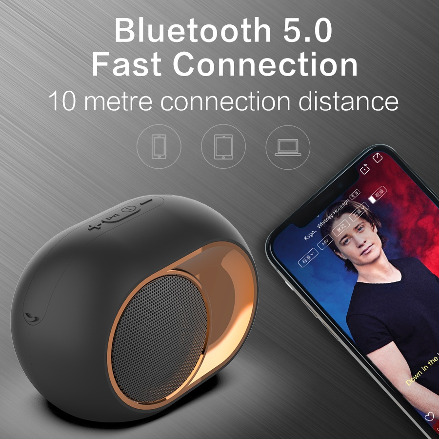 Bluetooth5.0 Wireless Portable Speaker Outdoor IPX7 Waterproof,5W TWS Bi-Channel Stereo Sound and Strong Bassup,Mini Travel Speakers for Smart Phone,Tablet,TV,Stream Media and outdoor travel