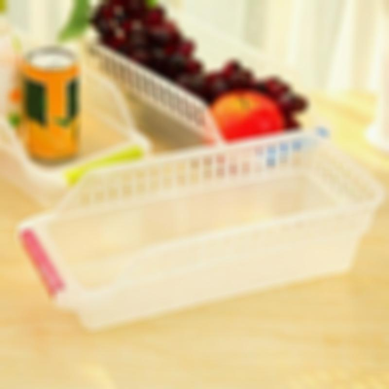 Hoomall庐 Hollowed-out Drawer Plastic Refrigerator Storage Box For DrinksIcebox