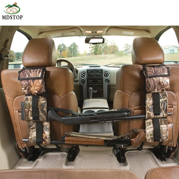 MDSTOP Cars Front Seat Storage Gun sling Bag Back Seat Hanging Rifle Rack Case Hunting Gun Holsters Organizer With Pockets Vehicle Light Weight For Storage 600D Oxford New Camouflage