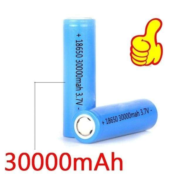 High Capacity 3.7V 18650 30000nAh Li-ion Rechargeable Battery For LED Flashlight Torch/electronic gadgets