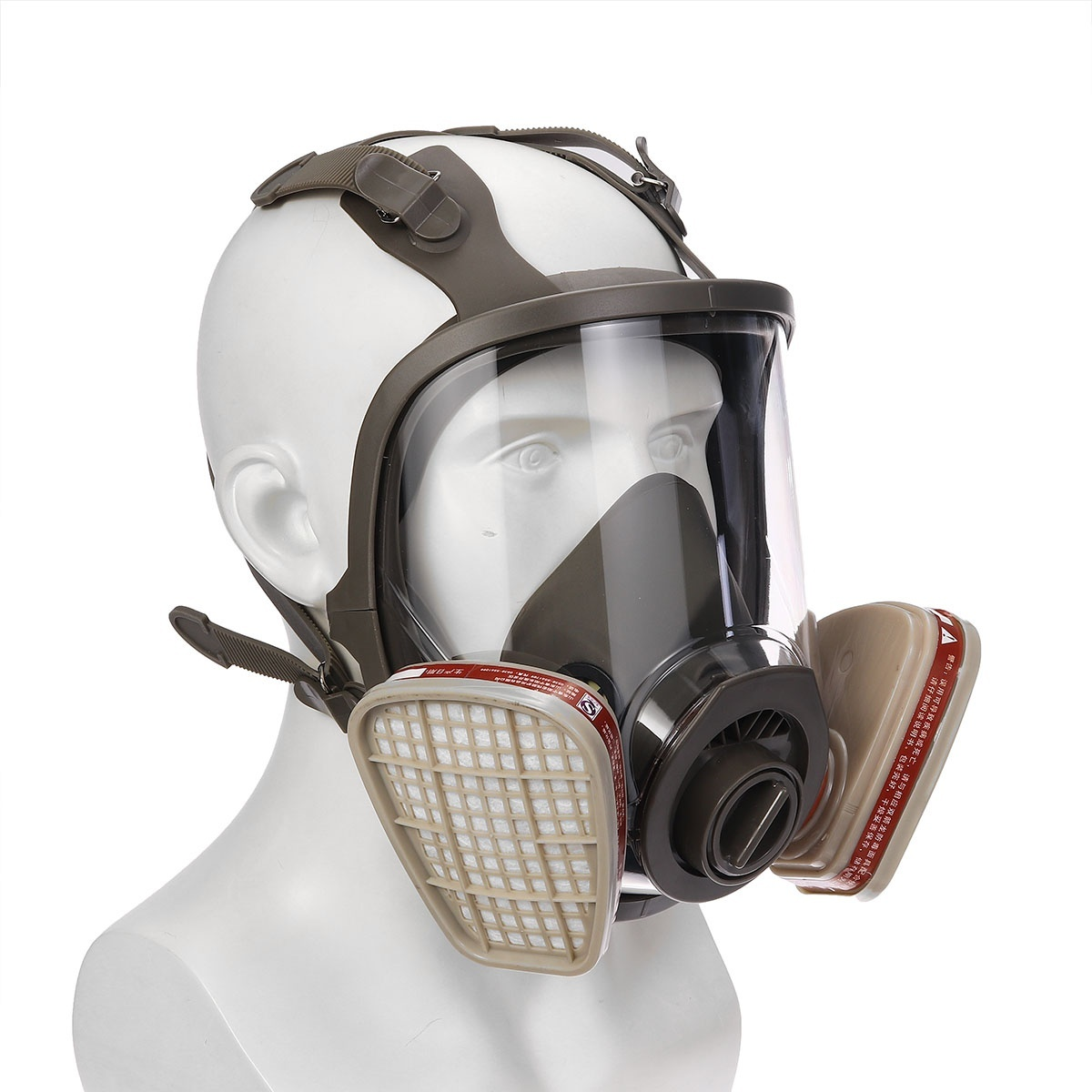 7IN1 Full Face 6800 Gas Mask Protect Painting Spraying Facepiece Respirator Set