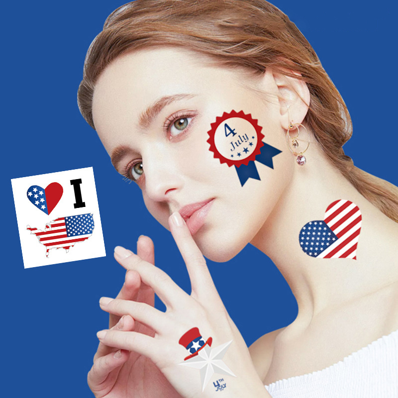 20PCS💝 Independence Day Tattoo Stickers