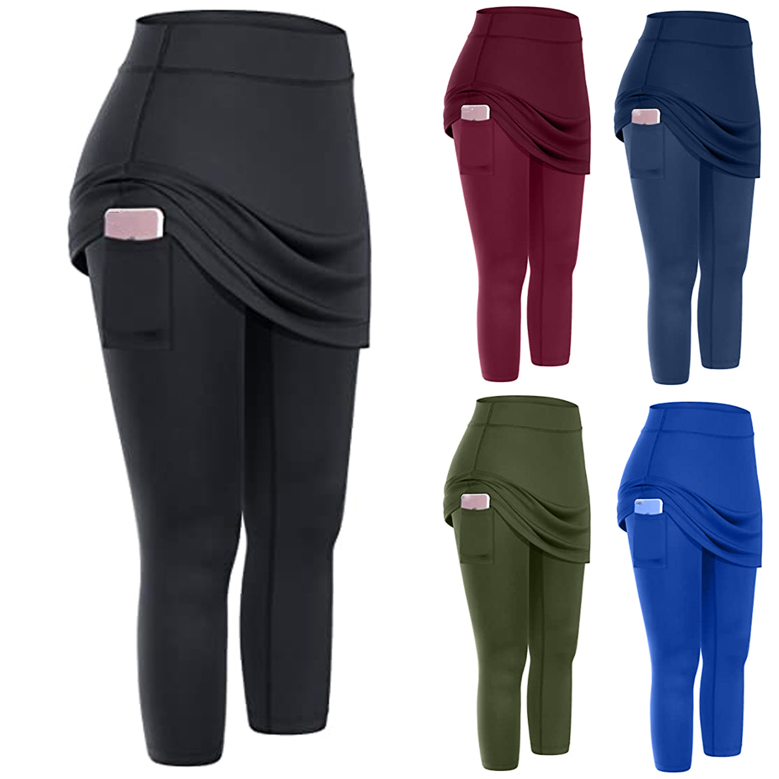Cropped comfortable pants with pockets