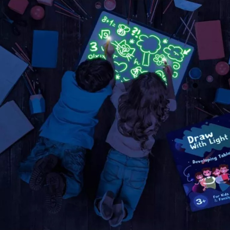 DRAW WITH LIGHT - GREAT FUN FOR KIDDOS!