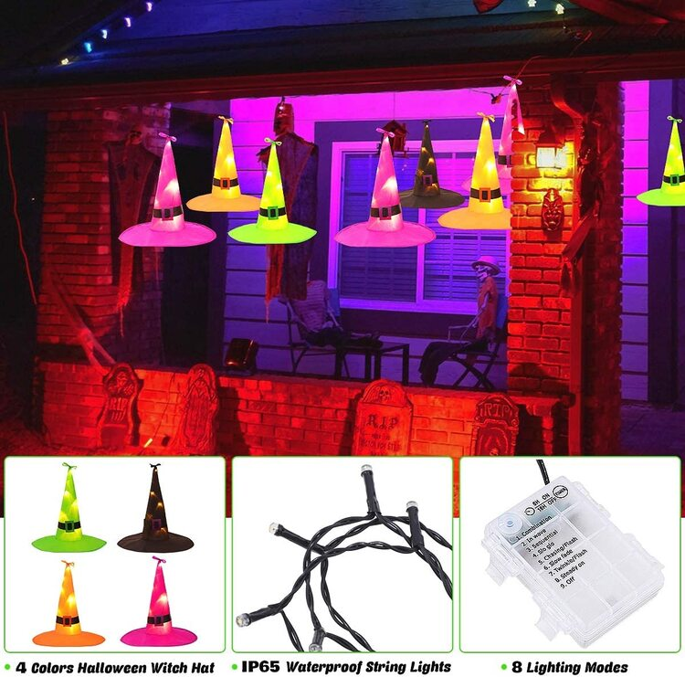 Witch Hat 🧙♀-Remote Control Halloween Lights (Only $4.99/pc)