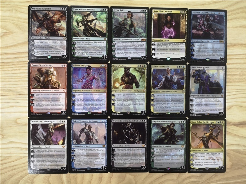 2019 New MTG Proxy Card Planeswalker Set 108Pcs