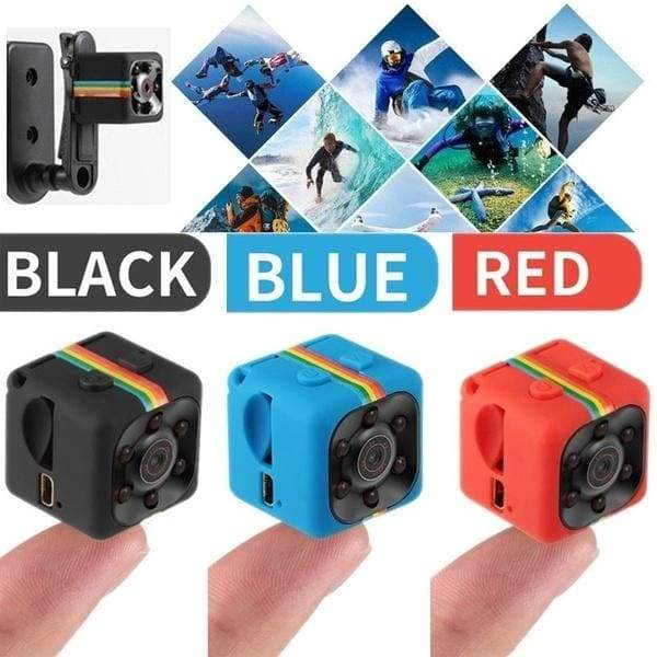Newest Quelima SQ11 mini 720P/1080P DVR recorder camera 120 degree HD car recorder with motion detection black/red/blue