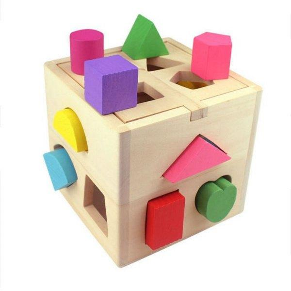 Fun Intelligence Toy Geometric Building Blocks for Kids -