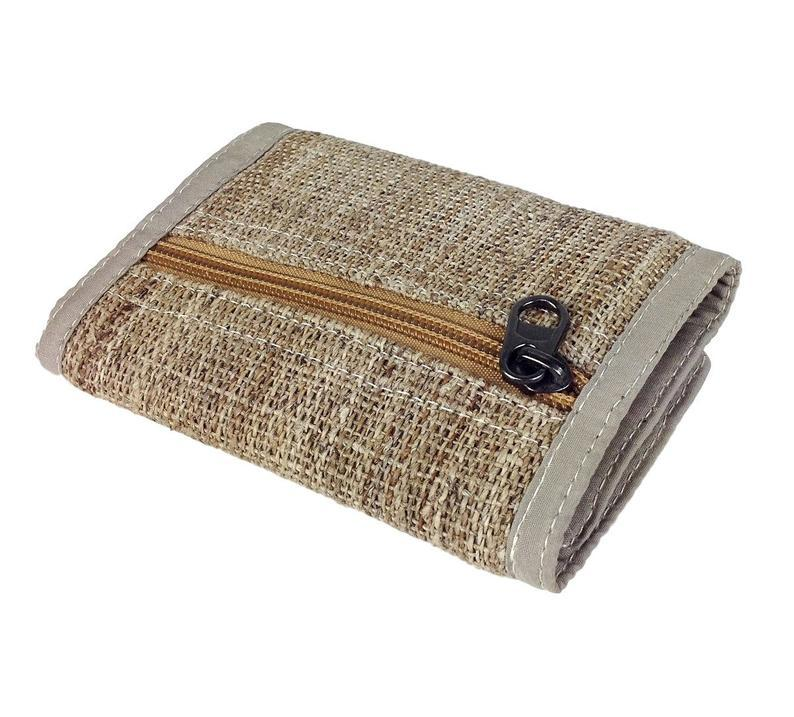 Natural Color Hemp and Nettle Trifold Wallet, Unisex Hippie Wallet Handmade. Makes a Great Gift.        Update your settings