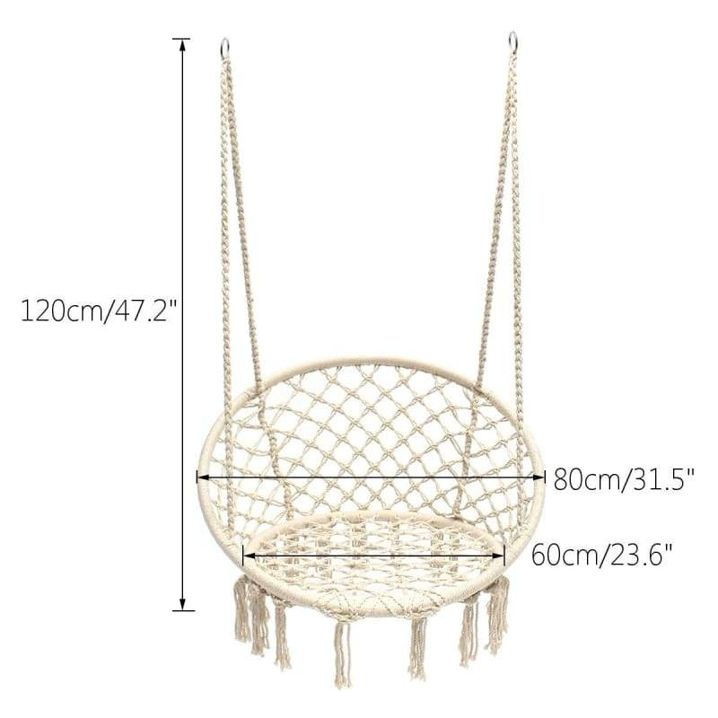 47.2inch 330LBS Max Hammock Chair Nordic Style Hammock Chair Swing Christmas Gift Perfect for Indoor/Outdoor Home, Patio, Deck, Yard, Garden