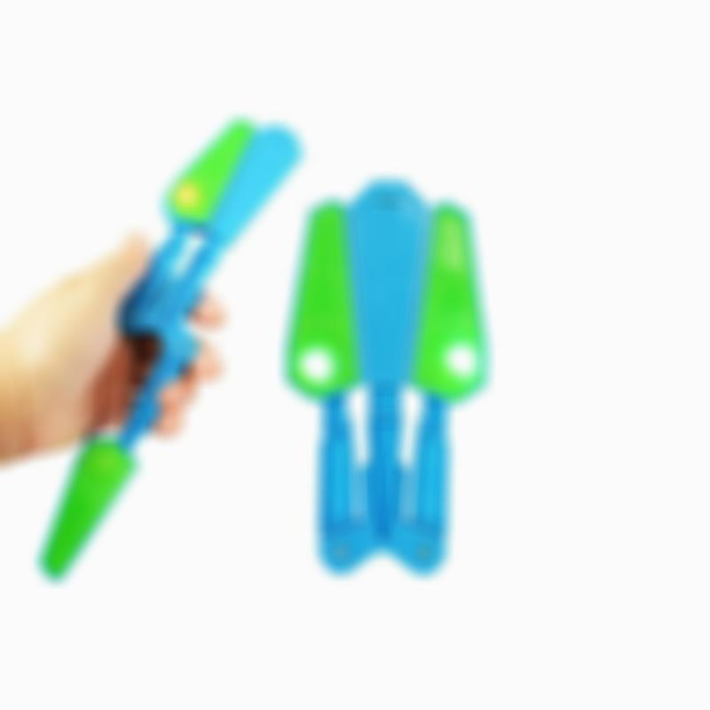 Rotating LED Finger Flip Finz Butterfly Shaped Stress Relief Toy
