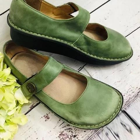 Women Cute Comfy Mary Jane Loafers