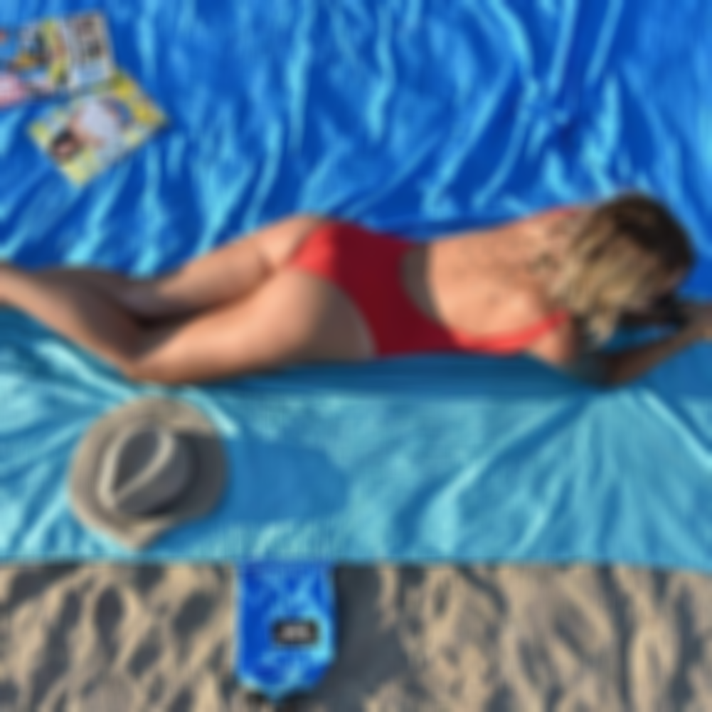 Arosetop Sandproof Beach Blanket Lightweight Sand Free Beach Mat - (Save 50% OFF)