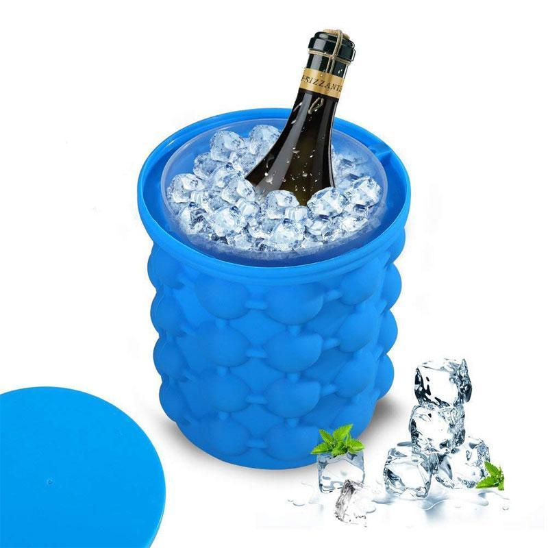 Leakproof Sapce Saving Silicone Molds Ice Cube Bucket
