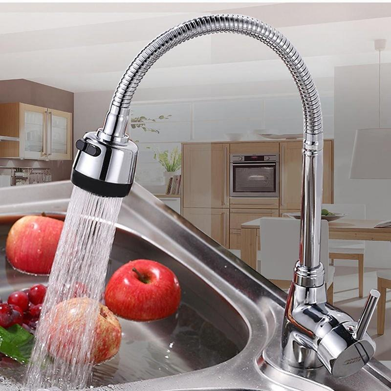 New Zinc Alloy 360掳 Rotatable Hot Cold Mixer Tap Kitchen Wash Basin Faucet