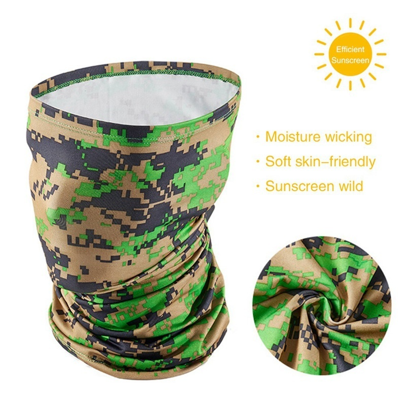 Outdoor Sports Bandana Headwear Summer Sun Protection Ice Silk Quick Dry Breathable Half Face Mask Cycling Motorcycle Neck Wamer Scarf