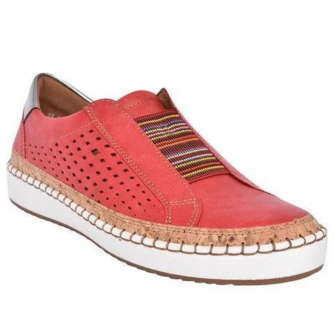 Hollow Out Round Toe Slip On Sneaker Loafers