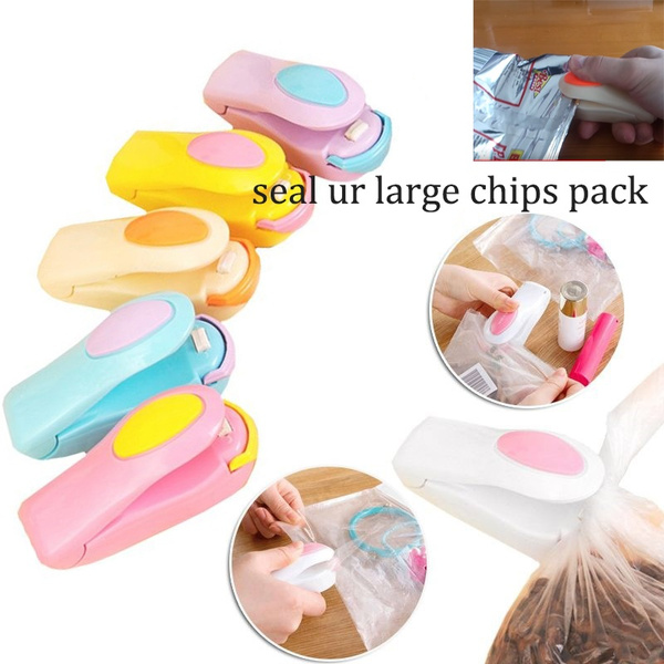seal your large chips pack,Portable Mini Heat Sealing Machine Impulse Sealer Seal Packing food Plastic Bags