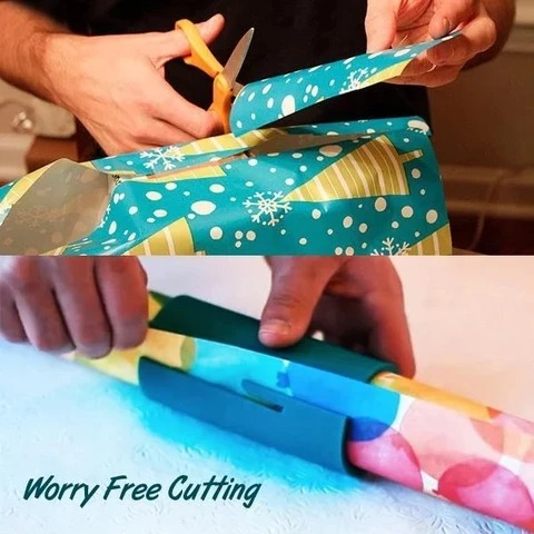 (Early Halloween Sale- Save 50% OFF) Sliding Wrapping Paper Cutter- Buy 2 Get 10% OFF