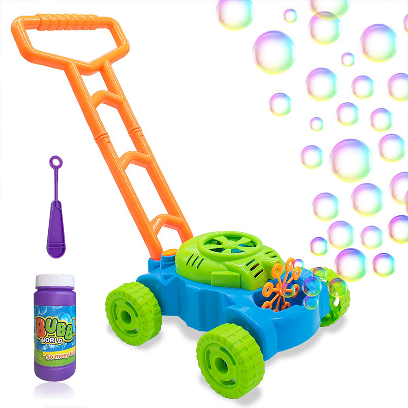 Bubble Lawn Mower for Toddlers Summer Outdoor Push Toys
