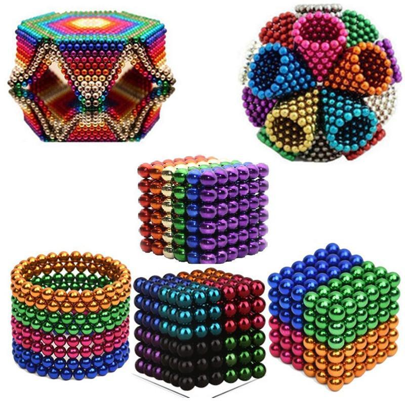 (❤️2021 Valentine's Day Promotion - 50% OFF)  Multi Colored DigitDots 216 Pcs Magnetic Balls, Buy More Save More
