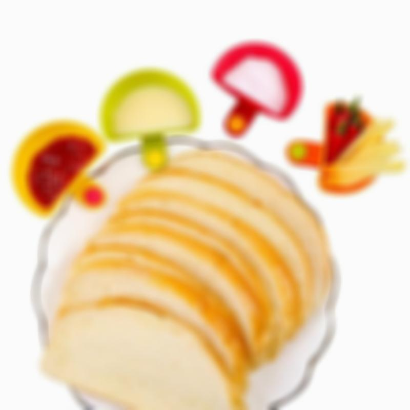 BREEZYLIVE 4 Pcs Assorted Salad Sauce Dip Clip Bowl with Plate Clips