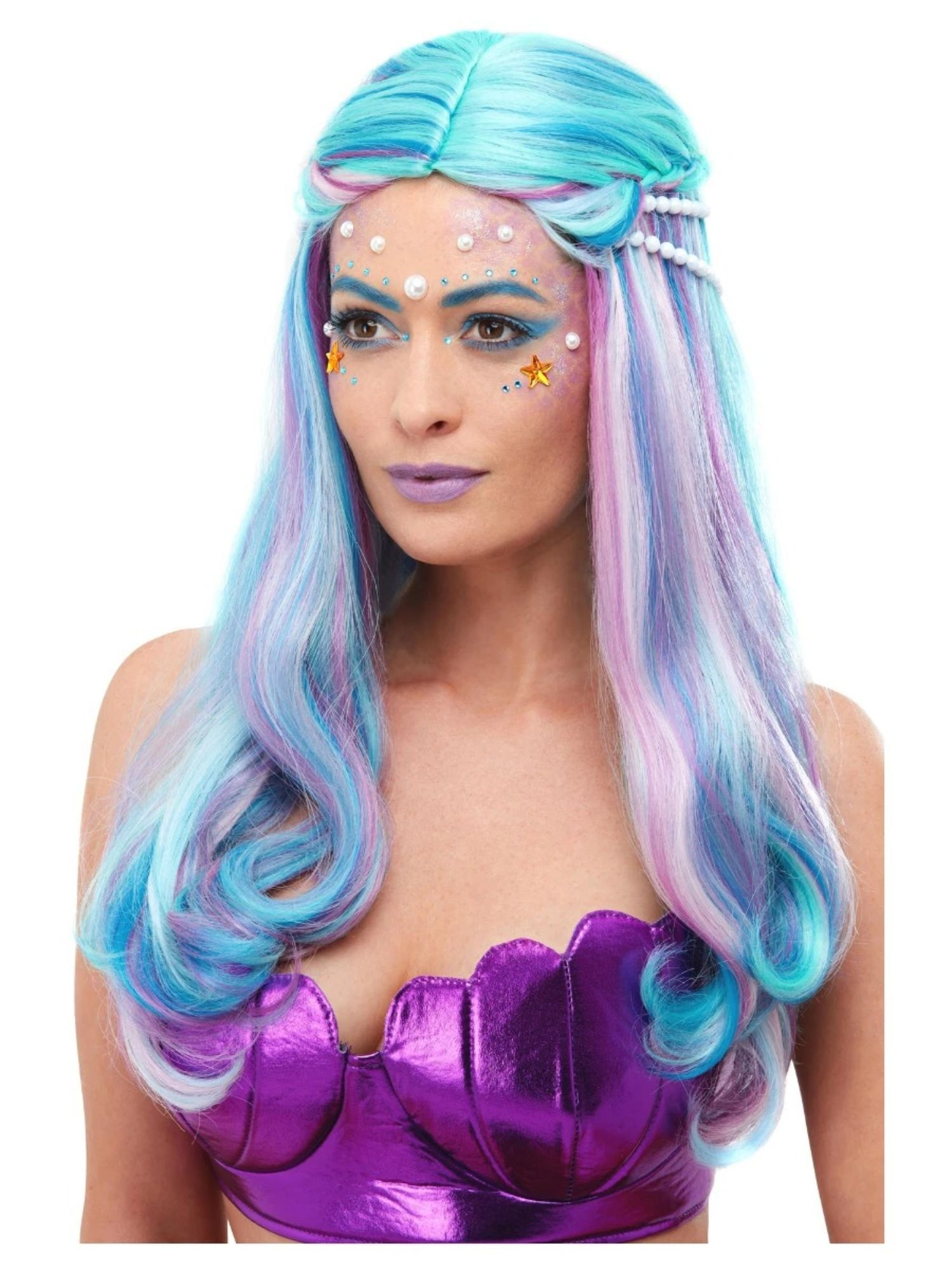 Blue Wigs Lace Frontal Wigs Cheap Human Wigs Greyish Blue Hair Silver And Blue Hair Black Hair With Blue And Purple Highlights