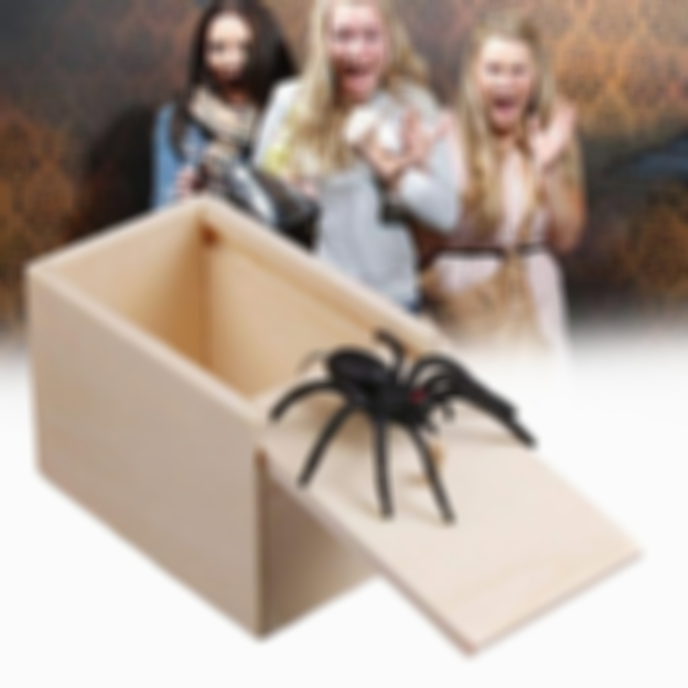 Spider Surprise Box Joke Fun Scare Prank Gag Gifts