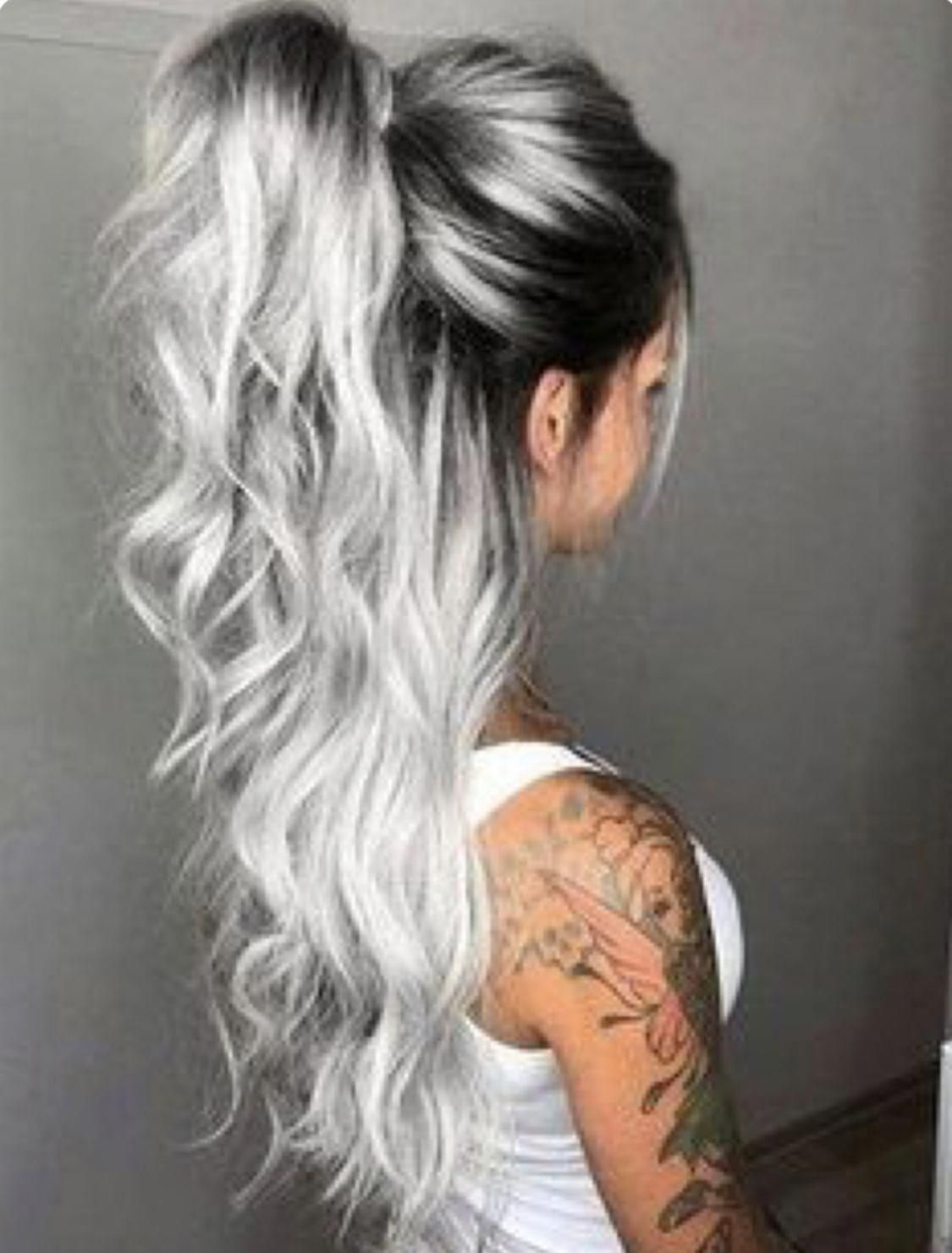 2020 New Gray Hair Wigs For African American Women Premature White Hair Short Grey Hair Over 50 Blending Gray With Highlights Premature Graying Beauty Supply Wigs