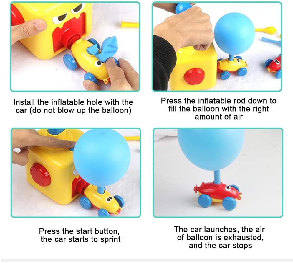 2020 Newest Power Balloon Car Toy Set, Power Car Perfect Gift for Toddlers Children Early Education