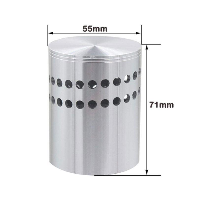 Modern Hollow Cylinder Spiral Hole LED Colorful Decorative Wall Light
