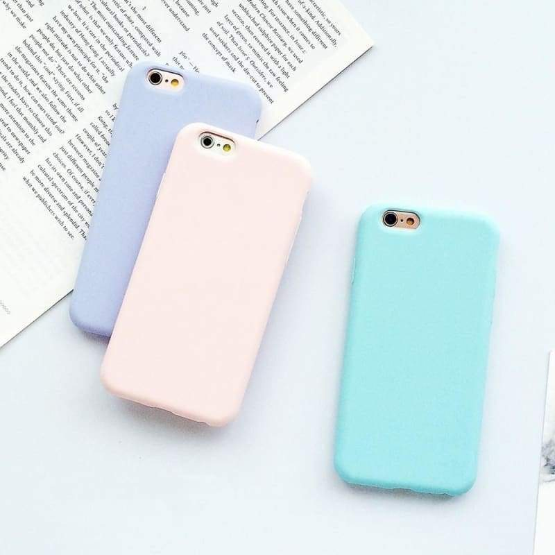 Macarons Color TPU Silicone Frosted Matte Case for IPhone 6 6S 5 5S SE 7 7plus 8 Plus X Soft Back Cover for Samsung Galaxy S8 S8plus Note8